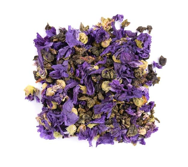 Tie guan yin tea con fiori di malva