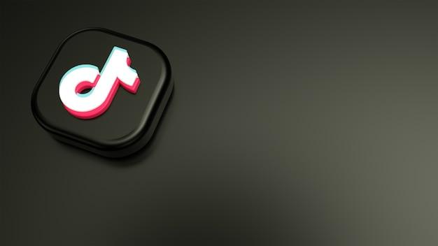 Logo minimo tiktok e sfondo pulito tiktok