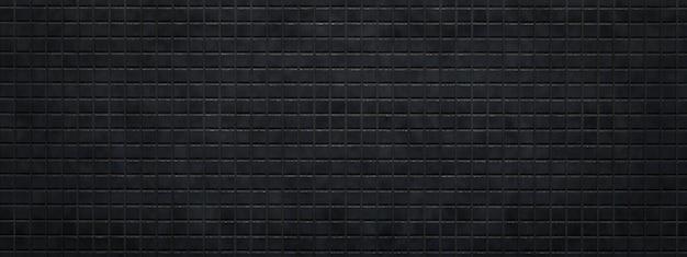 Struttura e fondo piastrellati della parete del mosaico, rendering 3d, immagine panoramica