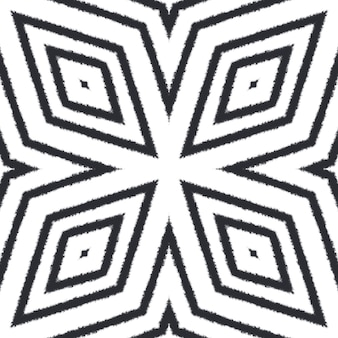 Reticolo dell'acquerello piastrellato. sfondo nero caleidoscopio simmetrico. acquerello piastrellato dipinto a mano senza soluzione di continuità. stampa caratteristica tessile pronta, tessuto per costumi da bagno, carta da parati, involucro.