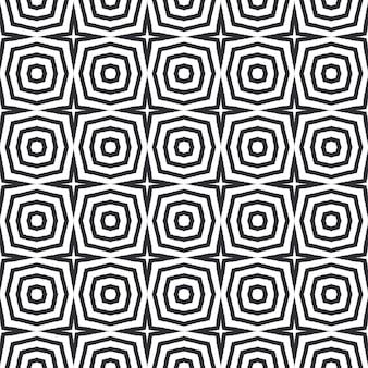 Reticolo dell'acquerello piastrellato. sfondo nero caleidoscopio simmetrico. stampa fantasiosa pronta per tessuti, tessuto per costumi da bagno, carta da parati, avvolgimento. acquerello piastrellato dipinto a mano senza soluzione di continuità.
