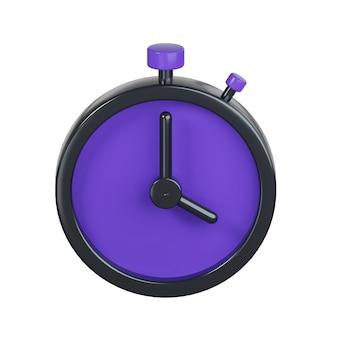 Icona del timer isolato su bianco