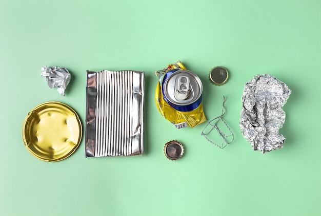 Rifiuti di stagno e alluminio per il riciclaggio