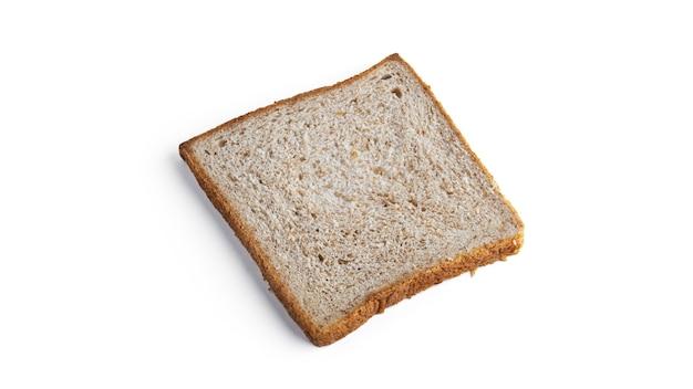 Pane tostato, pane di crusca isolato.