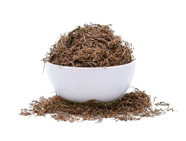 Tabacco isolato su bianco