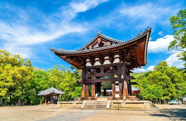 La campana todai-ji a nara, nella regione del kansai in giappone