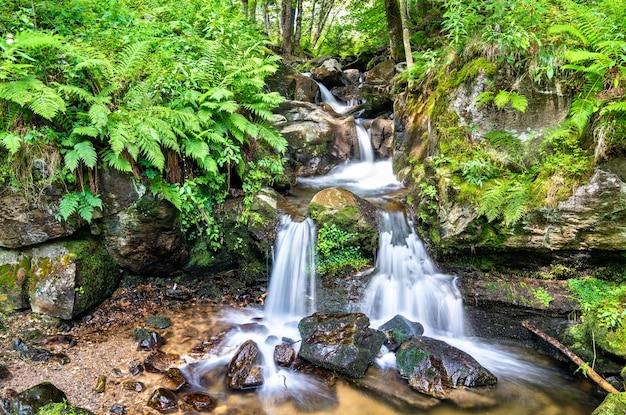 Todtnau waterfall nelle montagne della foresta nera, una delle cascate più alte della germania