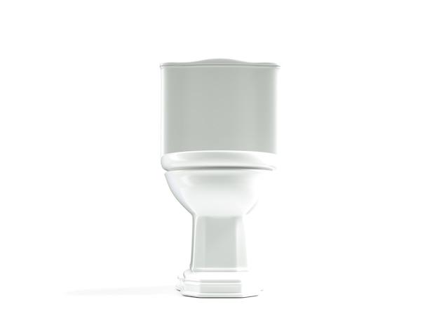 Wc 3d render wc su sfondo bianco