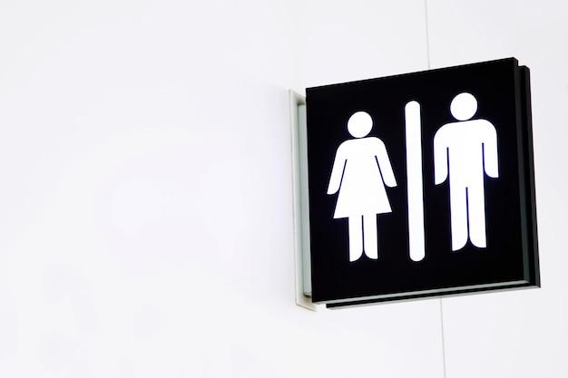 Icone del segno di servizi igienici impostare segni di wc uomo e donna per bagno