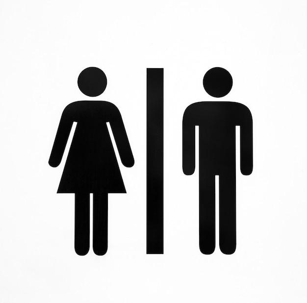 Simboli di servizi igienici su bianco isolato