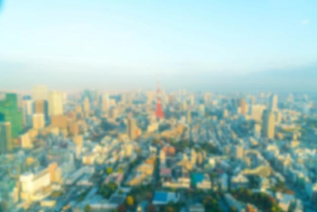 Skyline della città di tokyo con la torre di tokyo