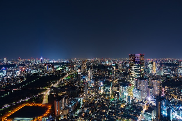 Città di tokyo al crepuscolo, in giappone