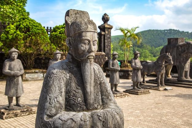 Tomba di khai dinh nella tonalità, vietnam