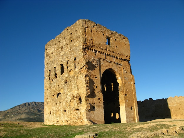 Tombe dei merenidi a fez, in marocco