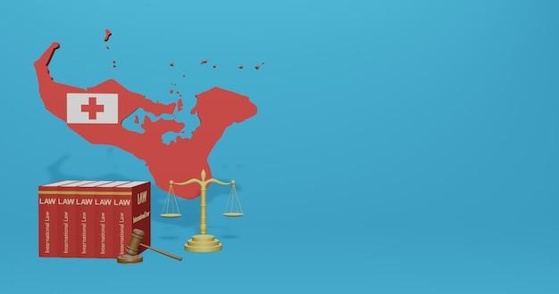 Legge di tonga per infografiche, contenuti dei social media nel rendering 3d