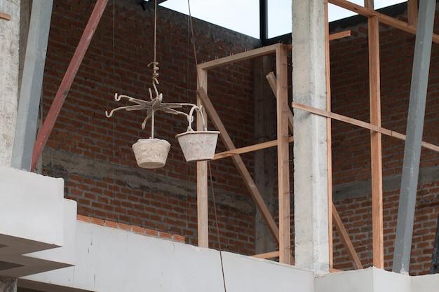 Strumenti di costruzione della casa nel luogo di lavoro
