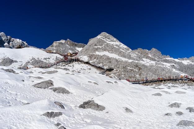 Parte superiore della montagna della neve del drago della giada nel yunnan, cina