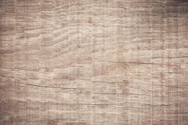 Vista dall'alto in legno marrone con crack, old grunge scuro con texture di sfondo in legno, la superficie della vecchia trama di legno marrone