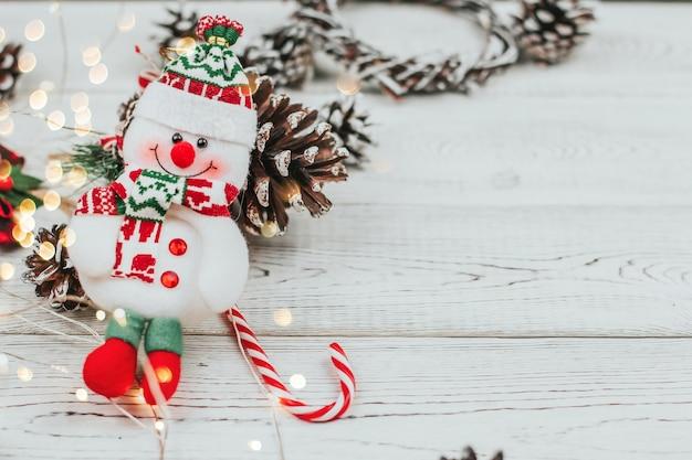 Vista dall'alto decorazioni natalizie