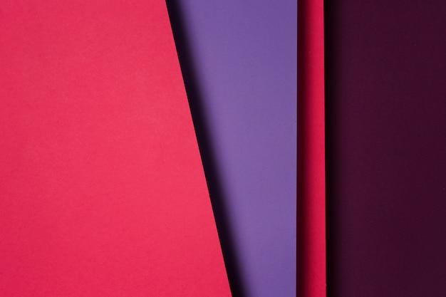 Vista dall'alto composizione di fogli di carta colorata