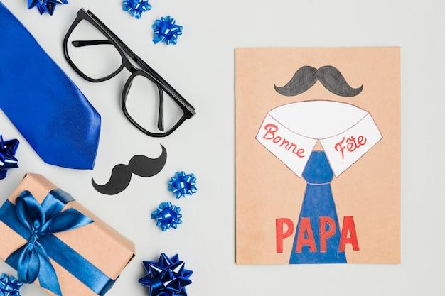 Vista superiore festa del papà disegno concetto