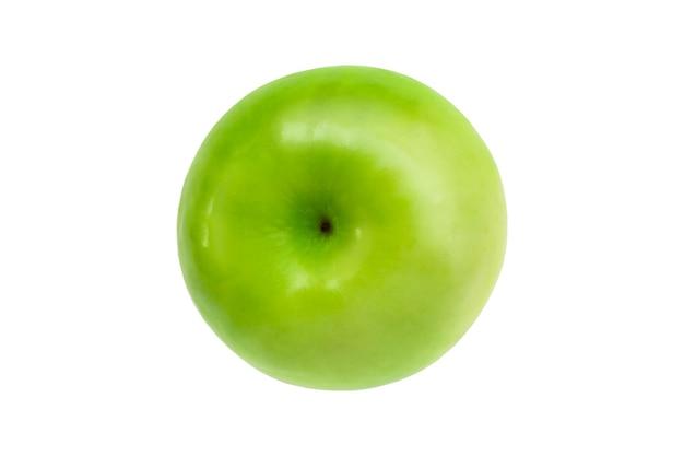 Vista dall'alto mela verde fresca isolata