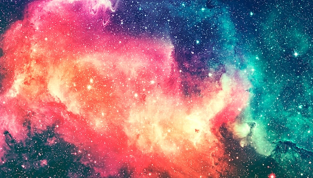 Spazio galassia vista dall'alto