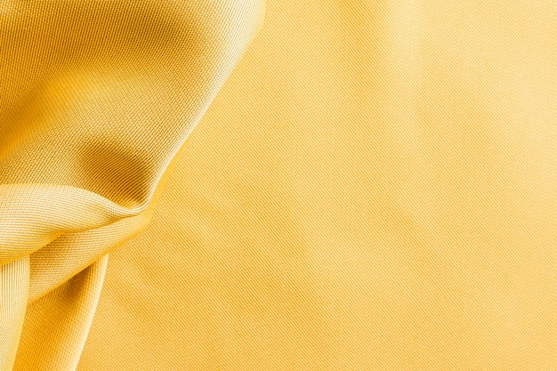 Trama di tessuto dorato vista dall'alto