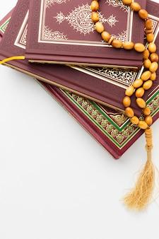 Vista dall'alto concetto islamico di nuovo anno