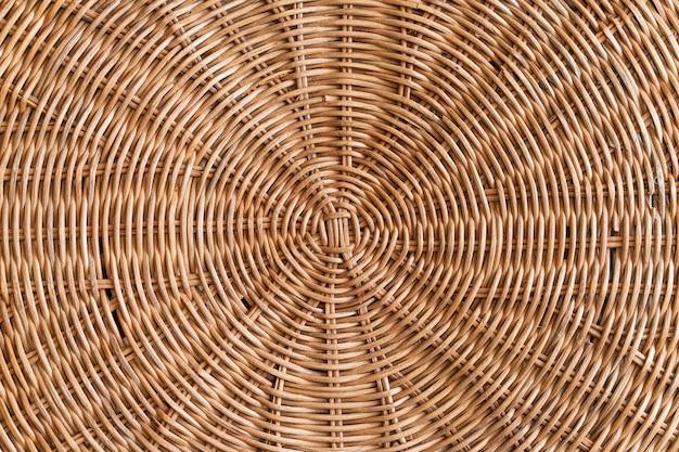 Vista dall'alto del modello concentrico in rattan