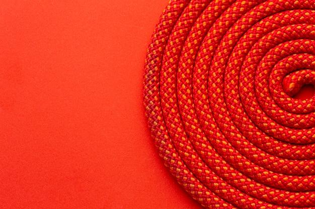 Primo piano dell'assortimento della trama della corda vista dall'alto