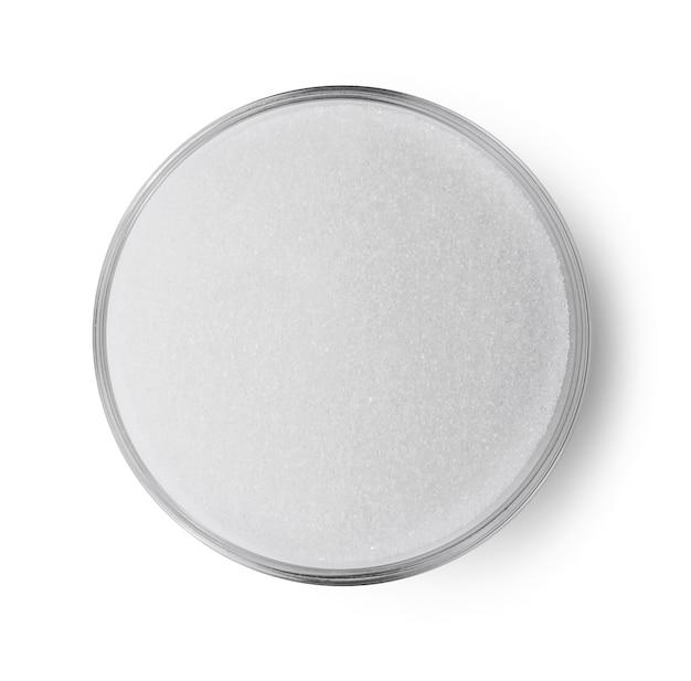 Zuccheriera topview isolato su sfondo bianco.