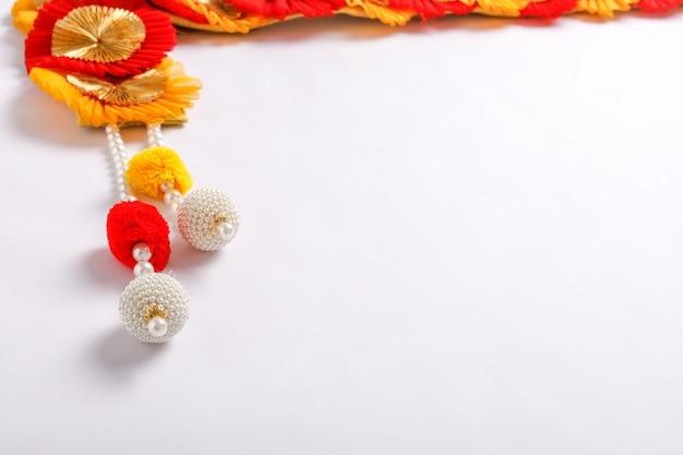 Toran un'impiccagione tradizionale vista nelle famiglie indiane durante le occasioni festive