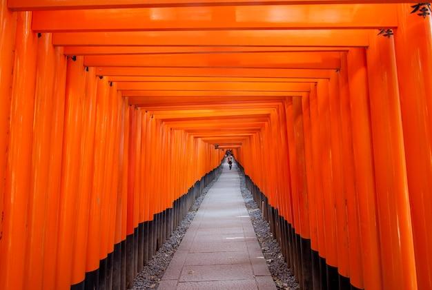 Torii cancelli a fushimi inari a kyoto