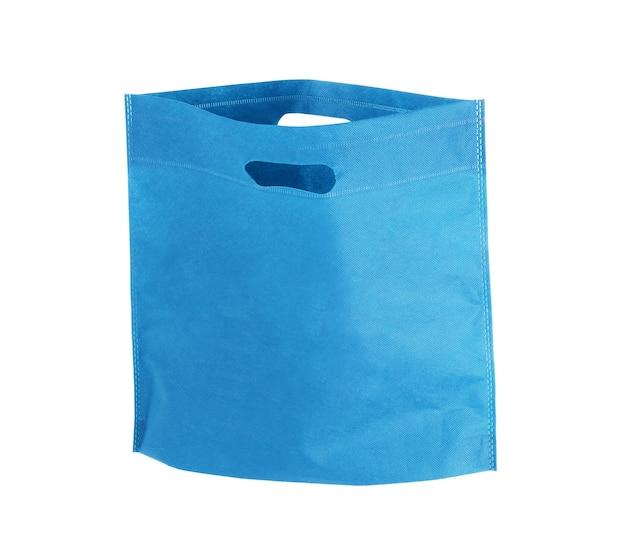 Tote bag tela tessuto panno shopping sacco mockup modello vuoto isolato su sfondo bianco