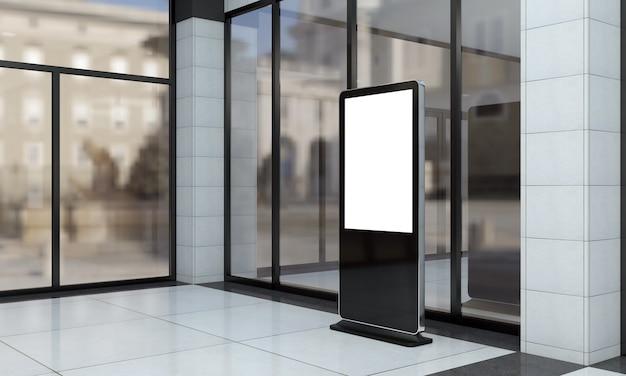 Segnaletica digitale di totem e chioschi 3d rendering