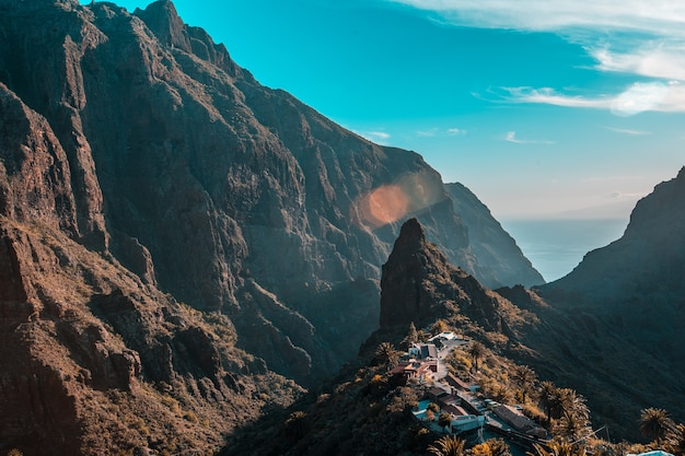 Città di monte masca sull'isola di tenerife, isole canarie. spagna
