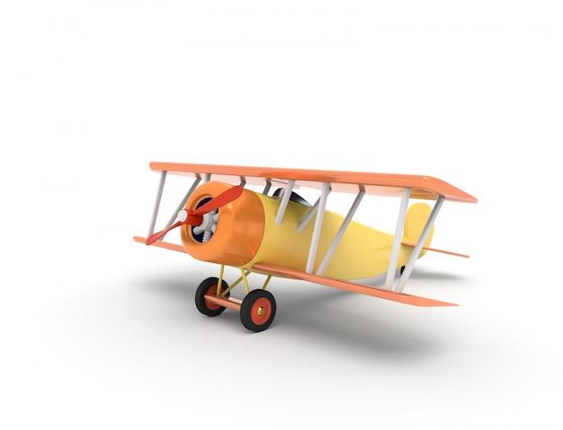 Giochi l'illustrazione degli aerei dell'annata con il posto vuoto per testo, la rappresentazione 3d