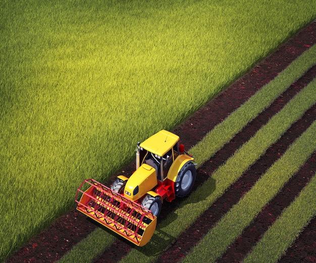 Il trattore ara un campo