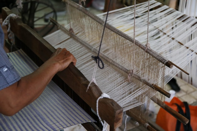 Dettaglio del telaio in asia tradizionale