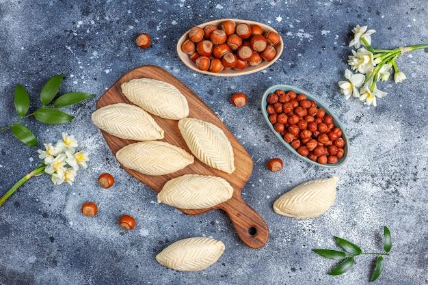 Festa tradizionale dell'azerbaigian novruz dolci shekerburas.