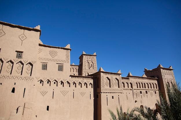 Tradizionale fortezza casbah vicino a ouarzazate marocco
