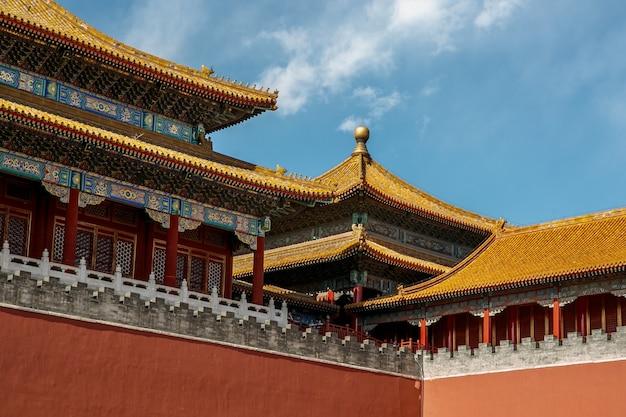Tetto architettonico cinese tradizionale