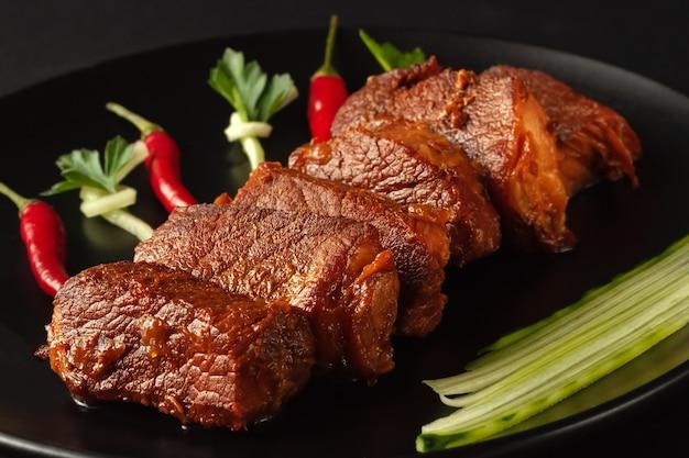 Cinese tradizionale cibo di strada, carne di maiale fritta, shanghai, cina