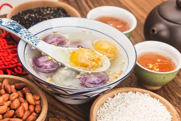 Palla di riso dolce cinese tradizionale