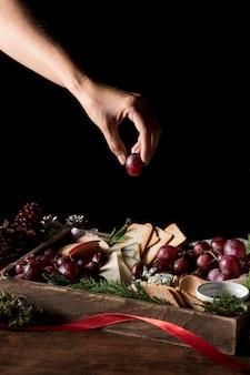 Composizione tradizionale in cucina natalizia
