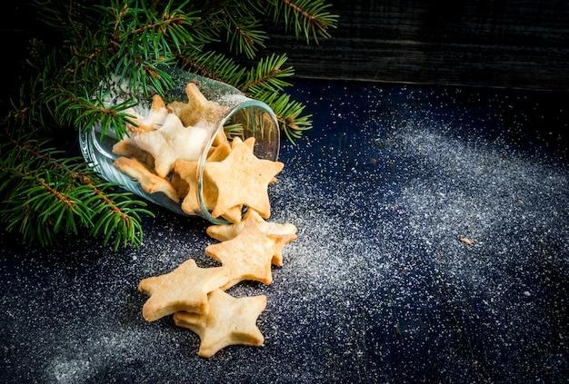 Biscotti tradizionali di panpepato di natale in barattolo
