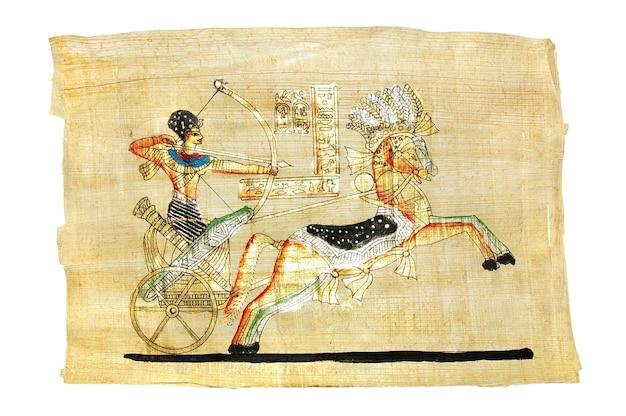 Papiro egiziano tradizionale fatto a mano con scena