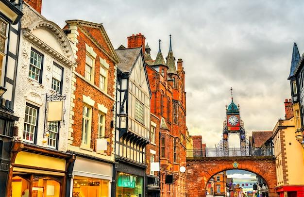 Architettura tradizionale inglese nella città vecchia di chester england, uk