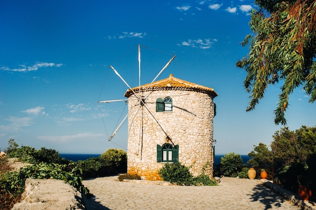 Vecchio mulino greco tradizionale, zante